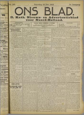 Ons Blad : katholiek nieuwsblad voor N-H 1913-12-13