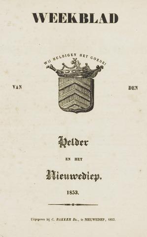 Weekblad van Den Helder en het Nieuwediep 1853-01-01