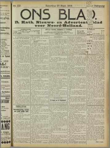 Ons Blad : katholiek nieuwsblad voor N-H 1913-09-27