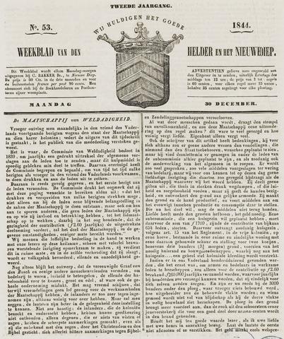 Weekblad van Den Helder en het Nieuwediep 1844-12-30