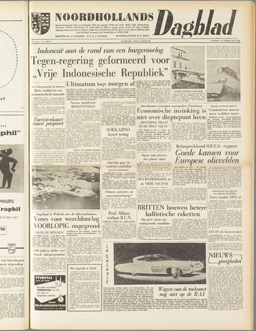 Noordhollands Dagblad : dagblad voor Alkmaar en omgeving 1958-02-14