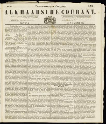 Alkmaarsche Courant 1870-11-13