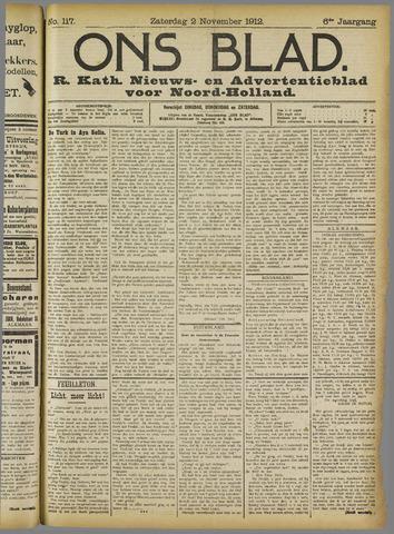 Ons Blad : katholiek nieuwsblad voor N-H 1912-11-02