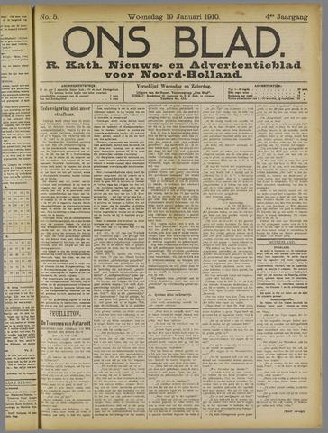 Ons Blad : katholiek nieuwsblad voor N-H 1910-01-19