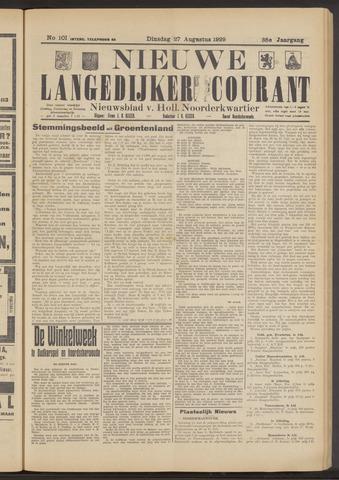 Nieuwe Langedijker Courant 1929-08-27