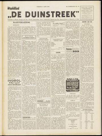 De Duinstreek 1954-06-11