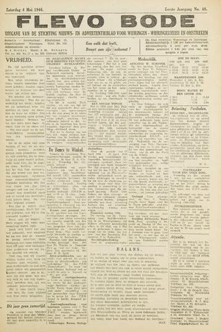 Flevo-bode: nieuwsblad voor Wieringen-Wieringermeer 1946-05-04