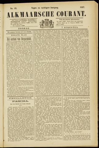 Alkmaarsche Courant 1887-08-07