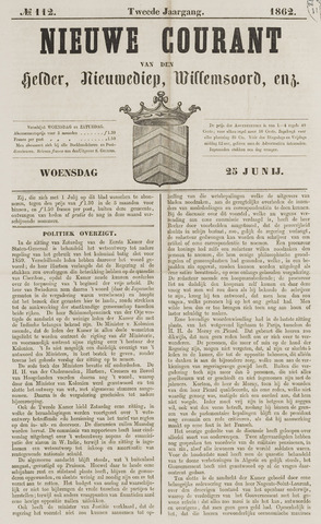 Nieuwe Courant van Den Helder 1862-06-25