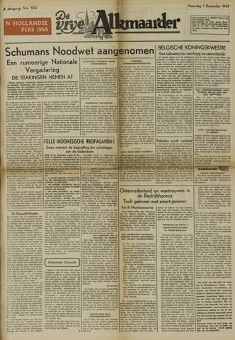 De Vrije Alkmaarder 1947-12-01