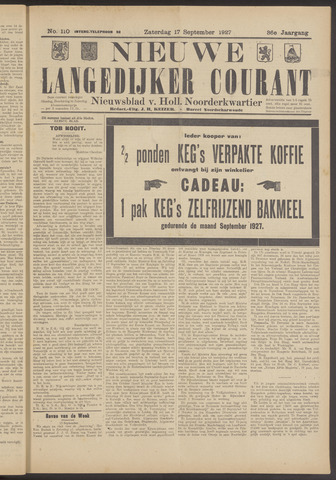Nieuwe Langedijker Courant 1927-09-17