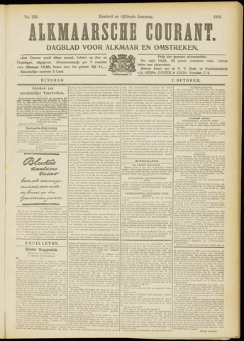 Alkmaarsche Courant 1913-10-07