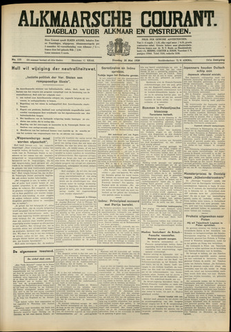 Alkmaarsche Courant 1939-05-30