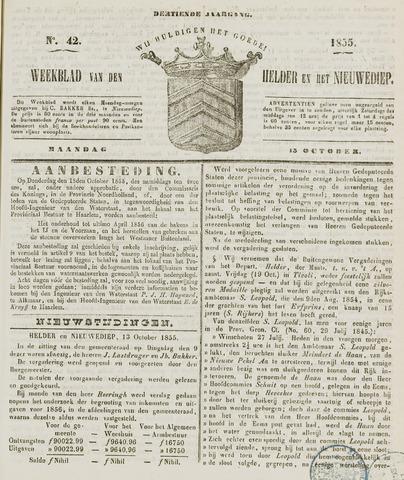 Weekblad van Den Helder en het Nieuwediep 1855-10-15