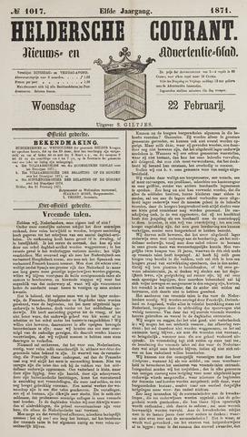 Heldersche Courant 1871-02-22