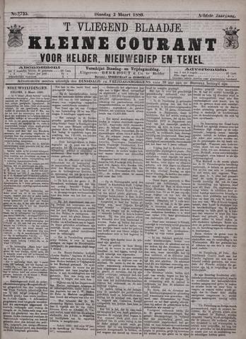 Vliegend blaadje : nieuws- en advertentiebode voor Den Helder 1880-03-02