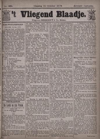 Vliegend blaadje : nieuws- en advertentiebode voor Den Helder 1879-10-14