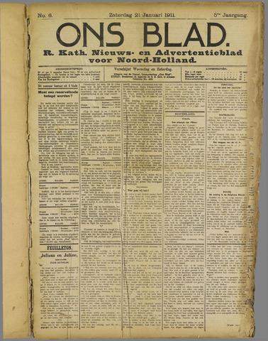 Ons Blad : katholiek nieuwsblad voor N-H 1911-01-21