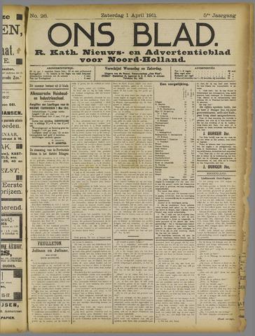 Ons Blad : katholiek nieuwsblad voor N-H 1911-04-01
