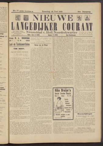 Nieuwe Langedijker Courant 1929-06-22