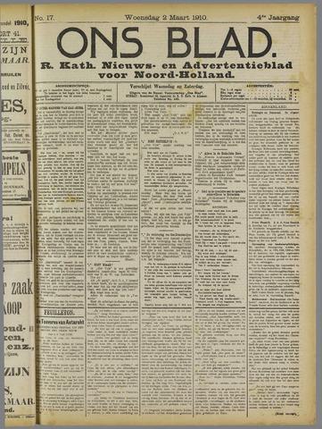 Ons Blad : katholiek nieuwsblad voor N-H 1910-03-02