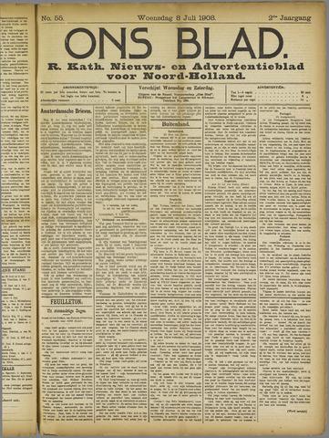Ons Blad : katholiek nieuwsblad voor N-H 1908-07-08