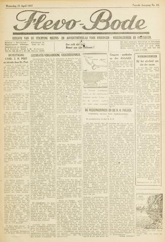 Flevo-bode: nieuwsblad voor Wieringen-Wieringermeer 1947-04-23