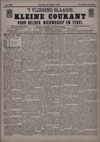 Vliegend blaadje : nieuws- en advertentiebode voor Den Helder 1884-03-22