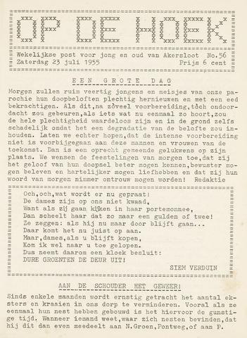 Op De Hoek, weekblad voor Akersloot 1955-07-23