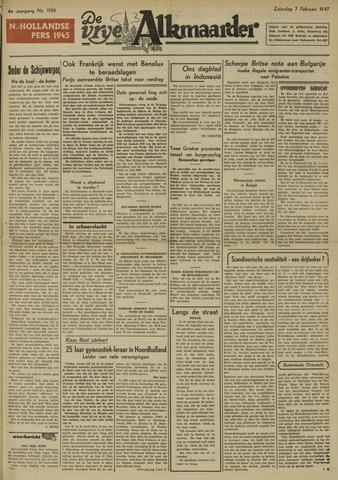 De Vrije Alkmaarder 1948-02-07