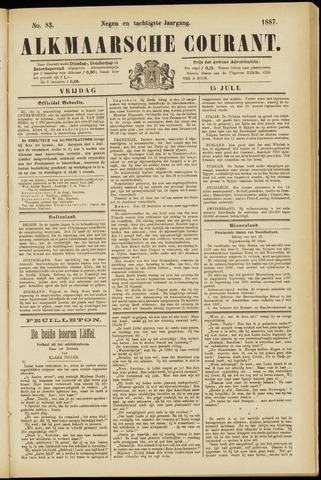 Alkmaarsche Courant 1887-07-15