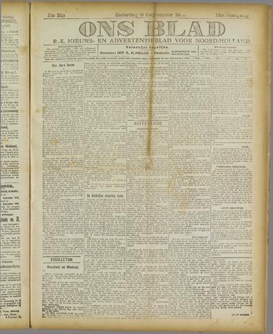 Ons Blad : katholiek nieuwsblad voor N-H 1919-09-06