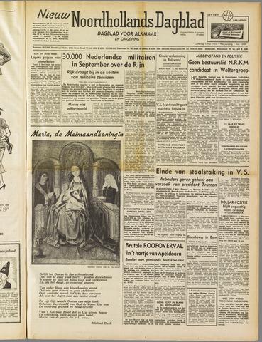 Nieuw Noordhollandsch Dagblad : voor Alkmaar en omgeving 1952-05-03