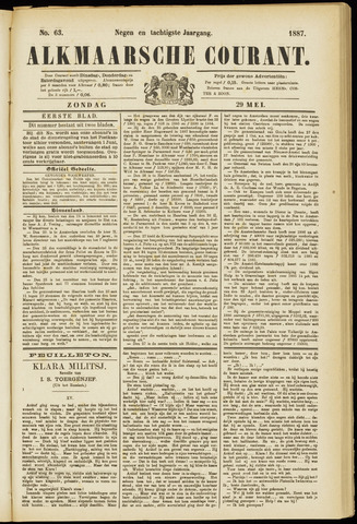 Alkmaarsche Courant 1887-05-29