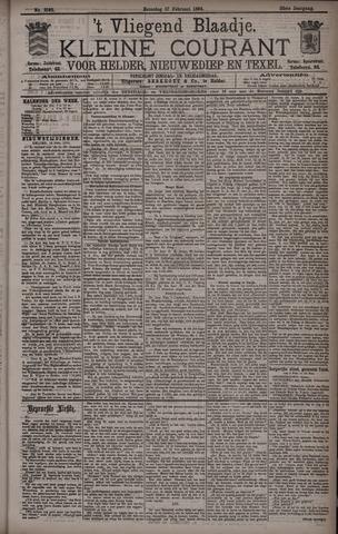 Vliegend blaadje : nieuws- en advertentiebode voor Den Helder 1894-02-17