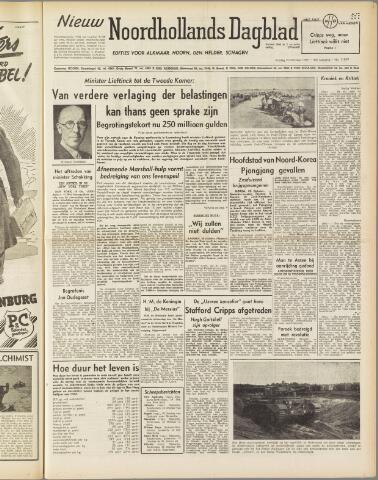Nieuw Noordhollandsch Dagblad : voor Alkmaar en omgeving 1950-10-20