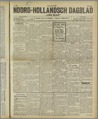 Ons Blad : katholiek nieuwsblad voor N-H 1922-03-03