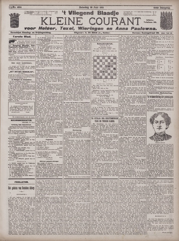 Vliegend blaadje : nieuws- en advertentiebode voor Den Helder 1913-06-28