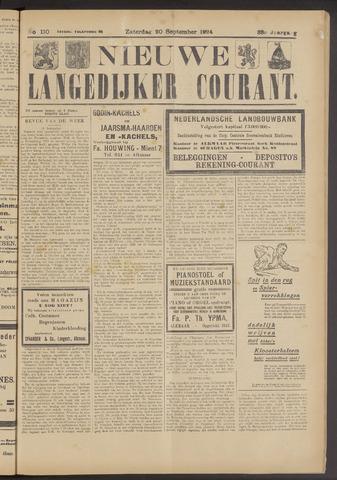 Nieuwe Langedijker Courant 1924-09-20