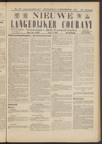 Nieuwe Langedijker Courant 1931-09-03