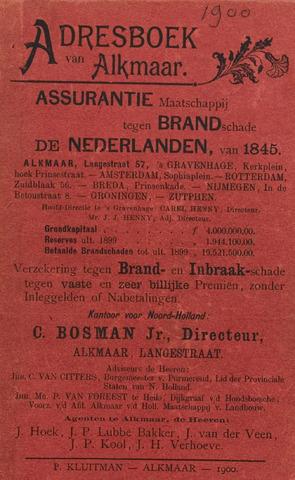 Adresboek van Alkmaar 1900-01-01