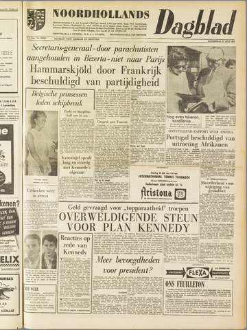 Noordhollands Dagblad : dagblad voor Alkmaar en omgeving 1961-07-27