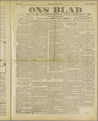 Ons Blad : katholiek nieuwsblad voor N-H 1920-07-05