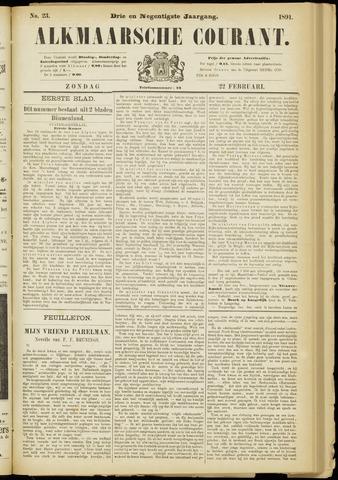 Alkmaarsche Courant 1891-02-22