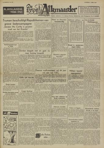 De Vrije Alkmaarder 1950-04-01