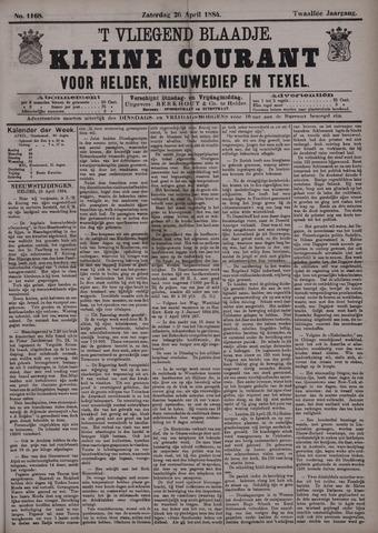 Vliegend blaadje : nieuws- en advertentiebode voor Den Helder 1884-04-26
