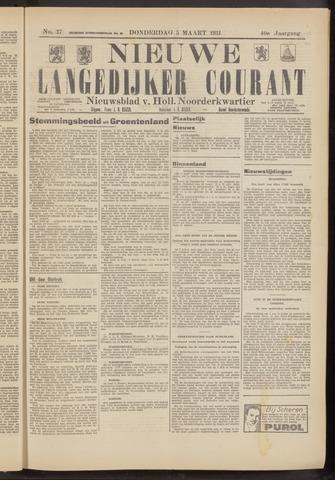 Nieuwe Langedijker Courant 1931-03-05