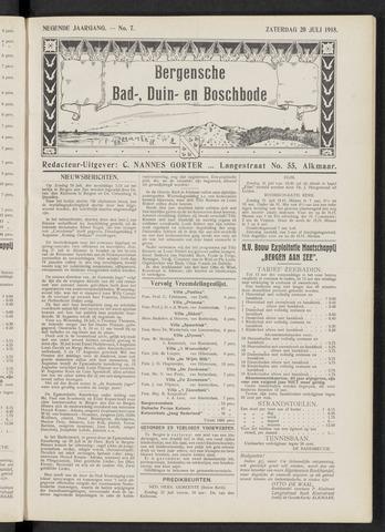 Bergensche bad-, duin- en boschbode 1918-07-20