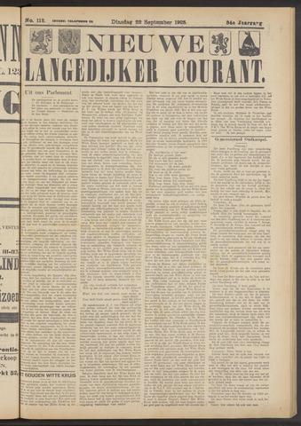 Nieuwe Langedijker Courant 1925-09-22