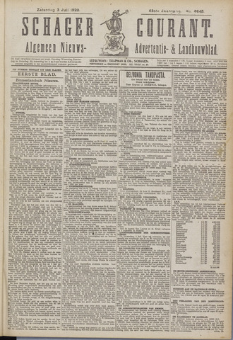 Schager Courant 1920-07-03